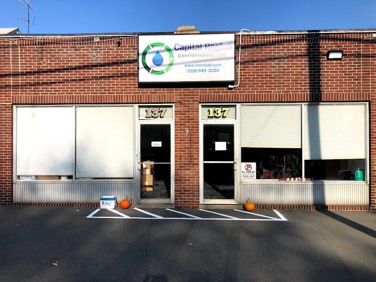 New Capital Region Environmental Lab Sign